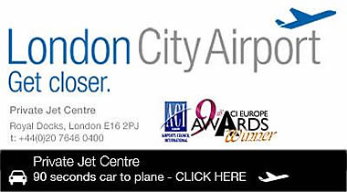 click to visit London City Airport Private Jet Centre