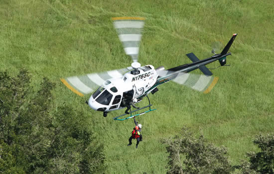 Airbus H125 helicopter owned by Seminole County Sheriff's Office.