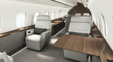 Global 5000 equipped with Premier cabin.