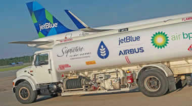 Airbus delivers first aircraft from Mobile powered by sustainable jet fuel blend.