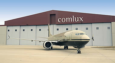 First ever BBJ Max 8 arrives at Comlux for cabin completion