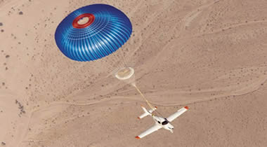 BRS whole aircraft parachute rescue system