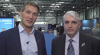 Adam Twidell, CEO of PrivateFly (left) with Chuck Sarakowski, Chief Safety Officer, OneSky.