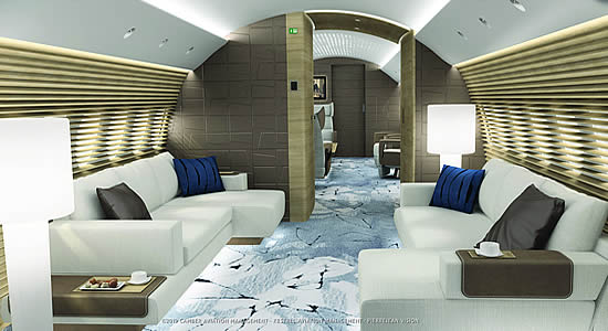 A new vision for corporate jet cabins