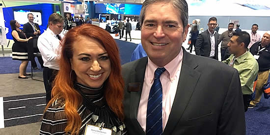 NBAA-BACE also allows industry professionals to network with new and longtime friends. We loved running into Todd Winter, CEO of Mid-Continent Instruments and a longtime friend of the agency, in 2017.