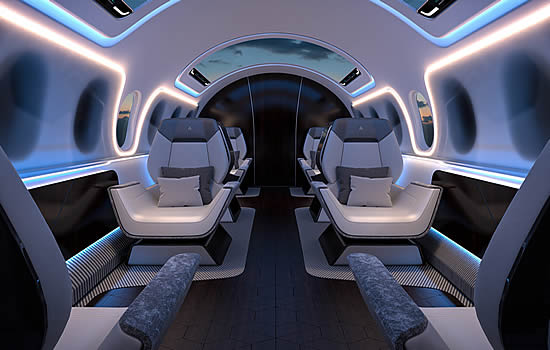 Luxury interior at the speed of sound