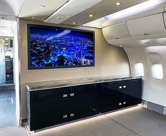 "DPI Labs first to market with 55"" and 65"" UHD 4K OLED displays for bizjets"